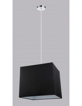 NEMO AP2 lampada da parete applique flessibile paralume cubo in tessuto nero DIAMANTLUX