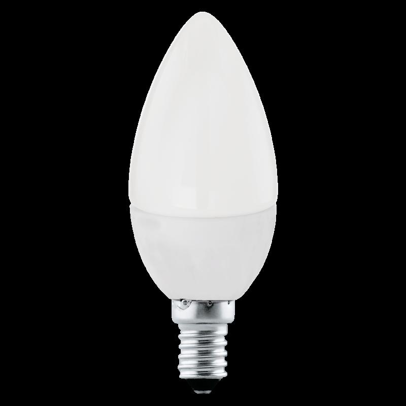 Oliva c37 led 4w e14 ln 4000k 320 lumen for Corrispondenza led watt