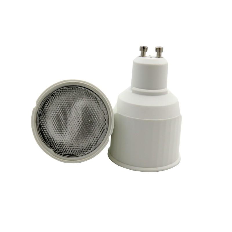 Lampadina a basso consumo in plastica bianco gu10 cfl 9w for Corrispondenza led watt