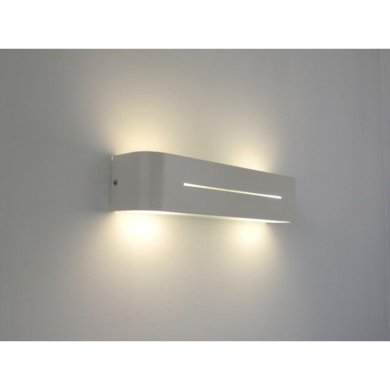 PIA AP2 BIANCO lampada parete applique design moderno camera salone cucina  biemissione di luce DIAMANTLUX