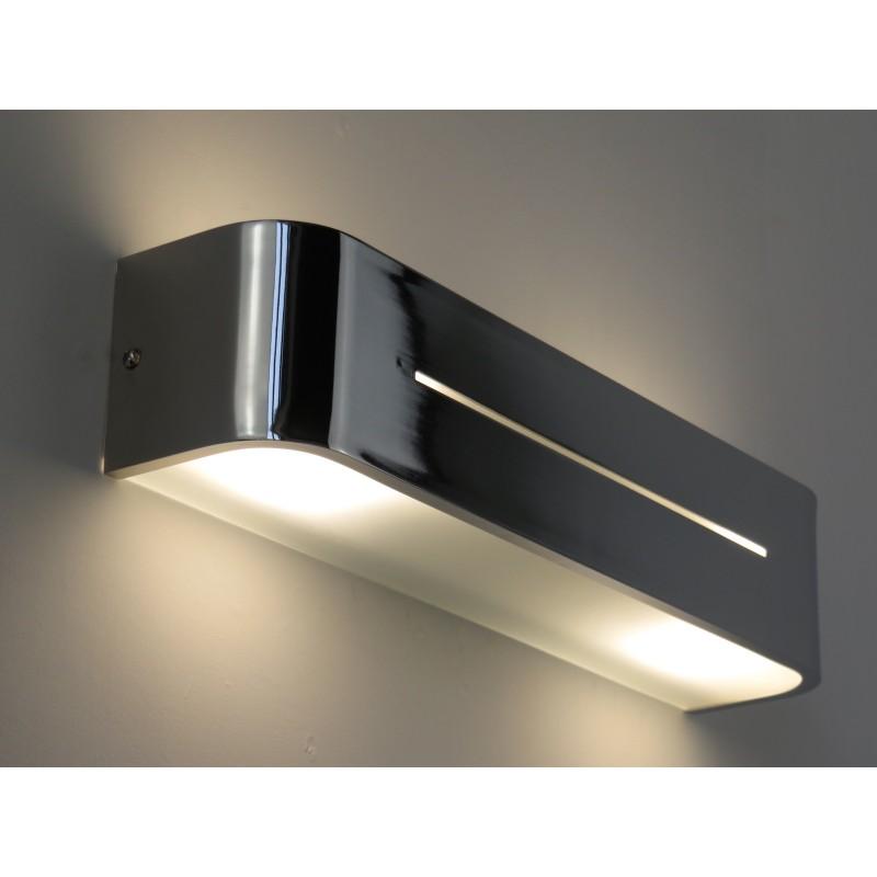 PIA AP2 CROMO lampada parete applique design moderno camera salone ...