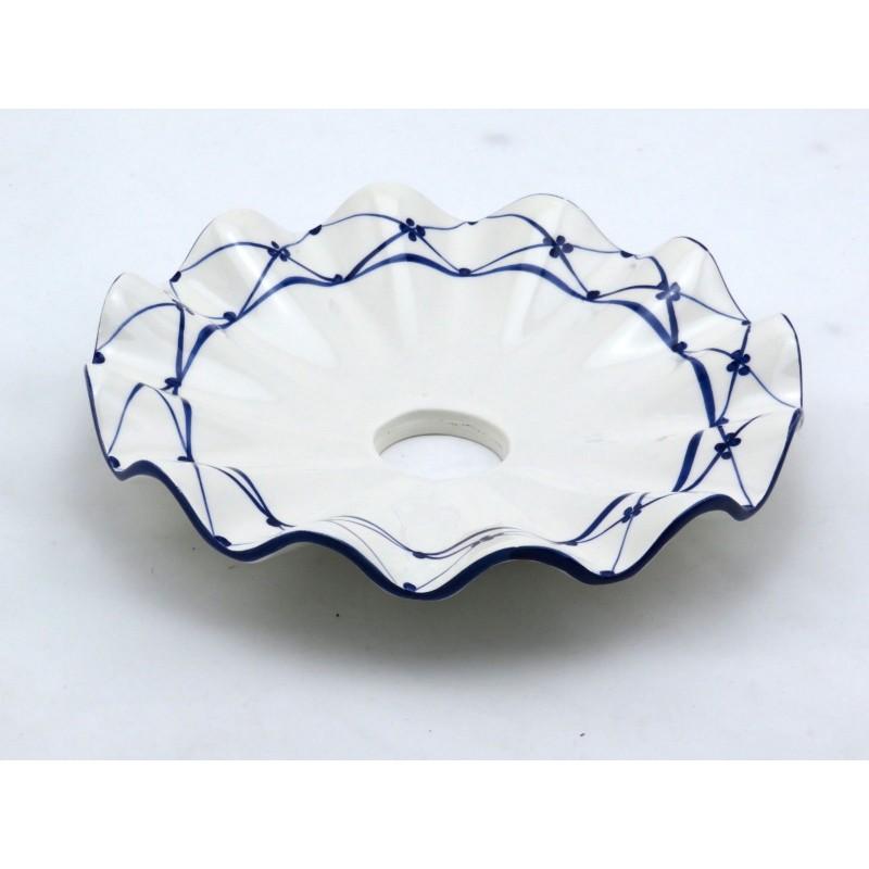 Piatti In Ceramica Per Lampadari.Piatto In Ceramica Ricambio Per Lampadario Applique 22 Cm Dipinto A Mano