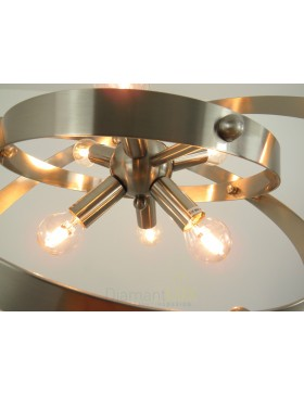 4181 Diamantlux 6s Design Lampadario Moderno Cerchi A Sospensione vmN0w8n