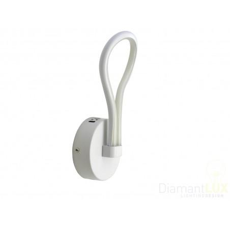 applique design moderno led lampada da parete bianco onde ...
