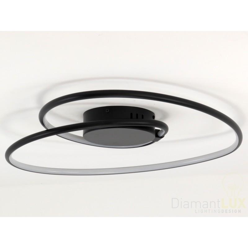 CARMEN plafoniera lampadario design moderno led cuore nero ...