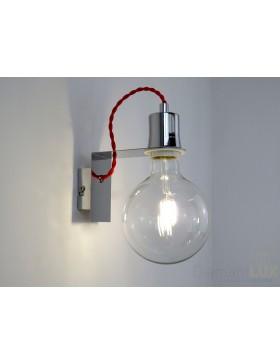 NEMO AP2 lampada da parete applique paralume cubo in tessuto