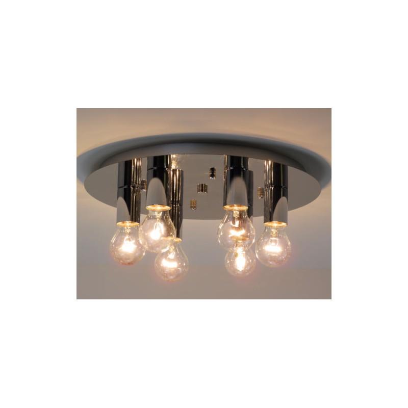 Lampadario Camera Da Letto Di Design.Cloe P6 Cromo Lampadario Plafoniera A Soffitto Di Design Moderno