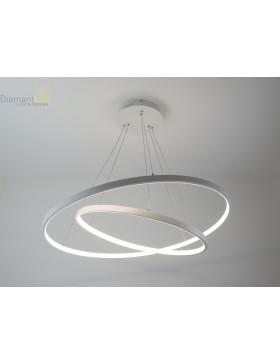 lampadario design moderno a led con 2 cerchi