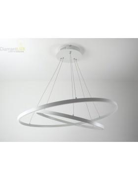 lampadario 2 cerchi led bianco