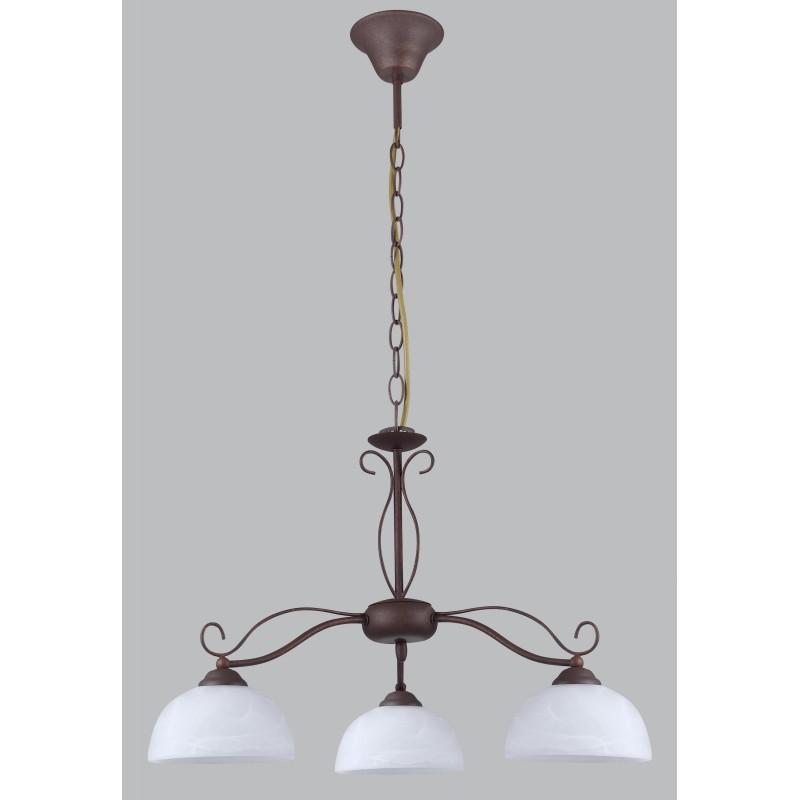 ANITA 4067 S3 LAMPADA A SOSPENSIONE CLASSICA MARRONE DIAMANTLUX