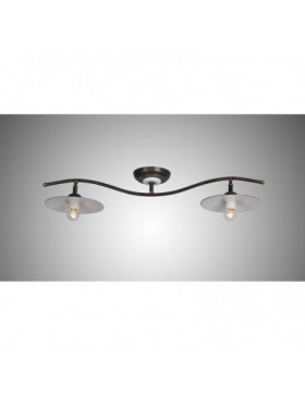 DARIO 1610 PL2 LAMPADA A BINARIO COUNTRY MARRONE DIAMANTLUX