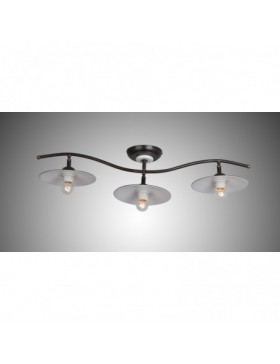 DARIO 1610 PL3 LAMPADA A BINARIO COUNTRY MARRONE DIAMANTLUX