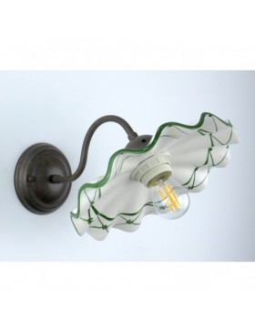 ELENA W701 82V A1 APPLIQUE CERAMICA DECORO VERDE DIAMANTLUX