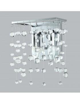 applique con sfere di vetro trasparente