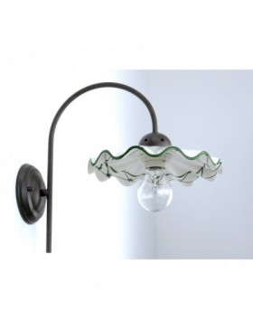 BERENICE 3410M 82V A1 APPLIQUE IN CERAMICA DECORO VERDE DIAMANTLUX